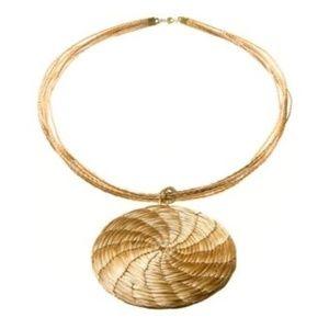 New Art da Terra Woven Circle Pendant Necklace